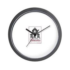 Cute Religion and beliefs catholic Wall Clock