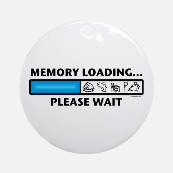 Memory Loading Guy Ornament (Round)