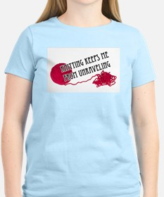 Knitting Keeps me from unraveling T-Shirt