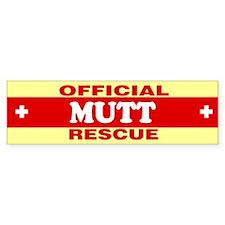 MUTT Bumper Bumper Sticker