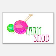 Yarn Snob Rectangle Decal