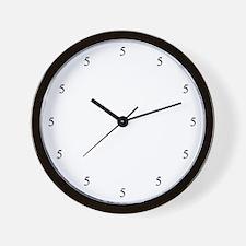 5'O Clock Wall Clock