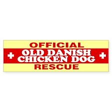 OLD DANISH CHICKEN DOG Bumper Bumper Sticker