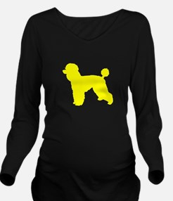 Poodle Yellow 1 Long Sleeve Maternity T-Shirt
