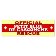 PETIT BLUE DE GASCONGNE Bumper Bumper Sticker