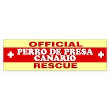 PERRO DE PRESA CANARIO Bumper Bumper Sticker