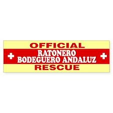 RATONERO BODEGUERO ANDALUZ Bumper Bumper Sticker