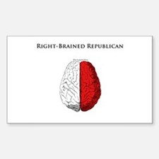 Right-Brained Republican Rectangle Decal