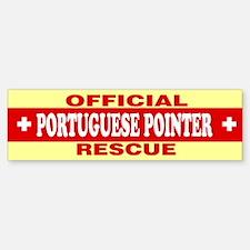 PORTUGUESE POINTER Bumper Bumper Bumper Sticker