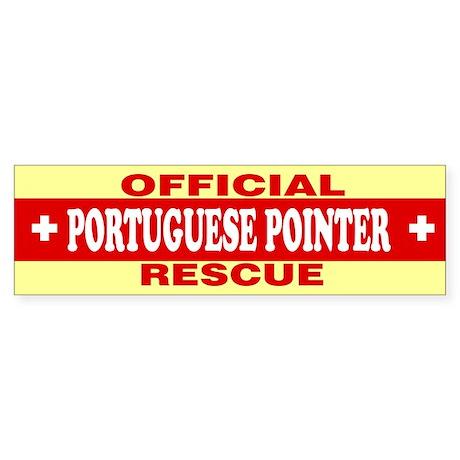 PORTUGUESE POINTER Bumper Sticker