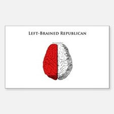 Left-Brained Republican Rectangle Decal