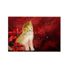 Holiday Kitten Rectangle Magnet