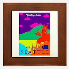Seattle. Framed Tile
