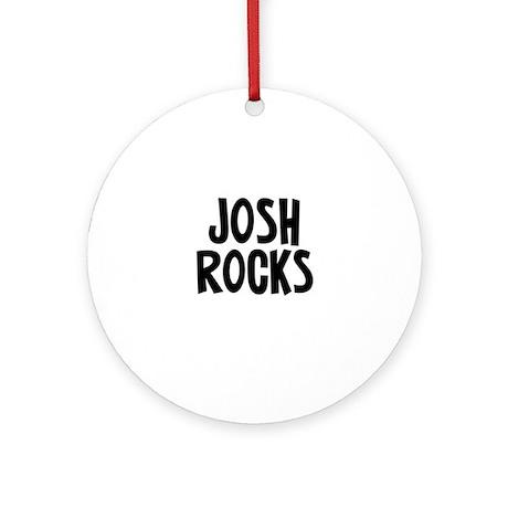 Josh Rocks Ornament (Round)
