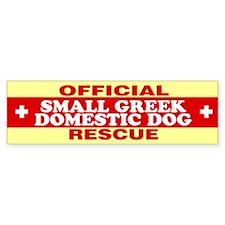SMALL GREEK DOMESTIC DOG Bumper Bumper Sticker