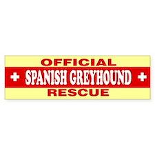 SPANISH GREYHOUND Bumper Bumper Sticker