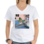Kit's Chemo Women's V-Neck T-Shirt