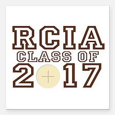"RCIA Class of 2017 Square Car Magnet 3"" x 3"""
