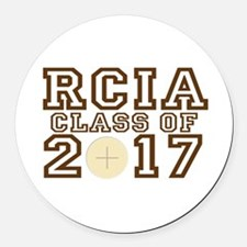 RCIA Class of 2017 Round Car Magnet