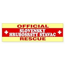 SLOVENSKY HRUBOSRSTY STAVAC Bumper Bumper Sticker