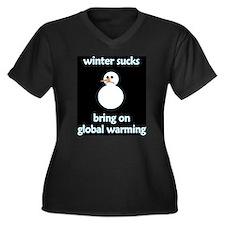 Winter Sucks - bring on globa Women's Plus Size V-