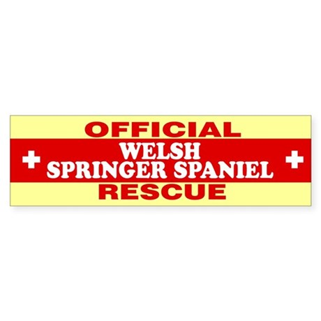 WELSH SPRINGER SPANIEL Bumper Sticker