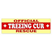 TREEING CUR Bumper Bumper Sticker