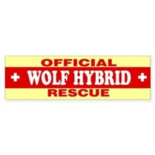 WOLF HYBRID Bumper Bumper Sticker