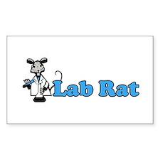Lab Rat Rectangle Decal
