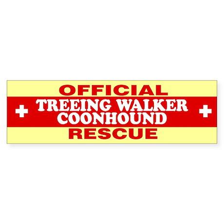 TREEING WALKER COONHOUND Bumper Sticker