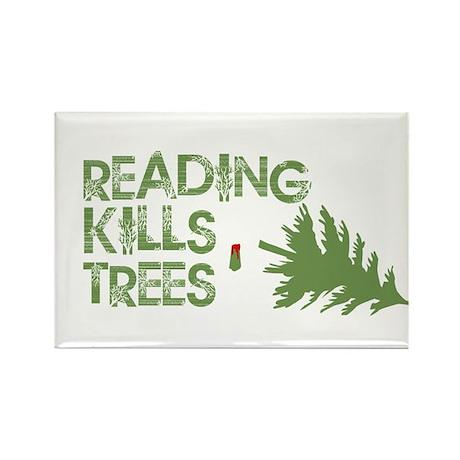Reading Kills Trees Rectangle Magnet