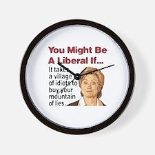 It Takes A Village of Idiots Wall Clock
