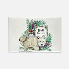 Westie Christmas Terrier Rectangle Magnet