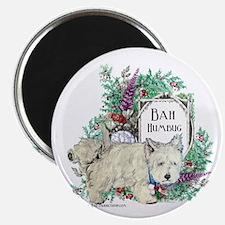 """Westie Christmas Terrier 2.25"""" Magnet (10 pack)"""