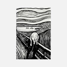 Munch's Scream Lithograph Rectangle Magnet