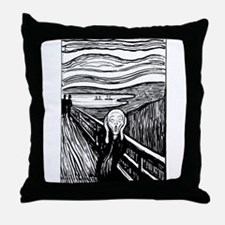 Munch's Scream Lithograph Throw Pillow