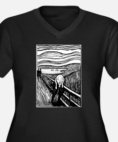 Munch's Scream Lithograph Women's Plus Size V-Neck