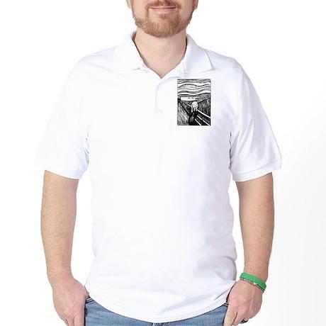 Munch's Scream Lithograph Golf Shirt