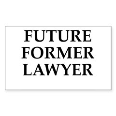 Future Former Lawyer Rectangle Decal
