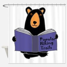 Cute Funny hiking Shower Curtain