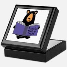 Cute Funny hiking Keepsake Box