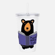 Bear Reading Hiking Bo Acrylic Double-wall Tumbler