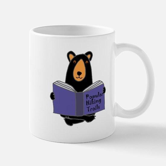 Bear Reading Hiking Book Mugs
