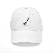 Flying Squirrel Illustration Baseball Cap
