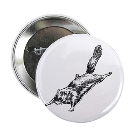 """Flying Squirrel Illustration 2.25"""" Button (100 pa"""