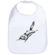 Flying Squirrel Illustration  Bib
