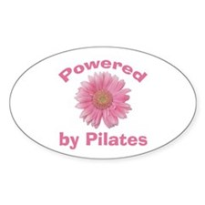 Powered by Pilates Oval Decal
