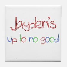 Jayden's Up To No Good Tile Coaster