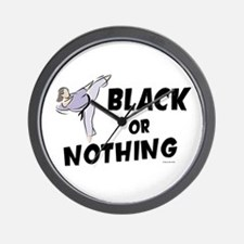 Black Or Nothing 1 (Female) Wall Clock