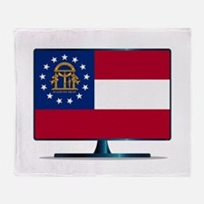 Georgia Flag TV Throw Blanket